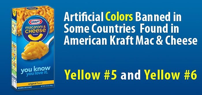 Artificial Colors Banned in Some Countries Found in American Kraft Mac & Cheese