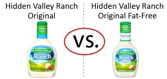 Nutrition Faceoff: Hidden Valley Original Ranch Dressing vs. Fat-Free