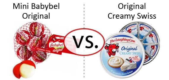 Nutrition Faceoff: The Laughing Cow Mini Babybel vs. Original Creamy Swiss Wedges