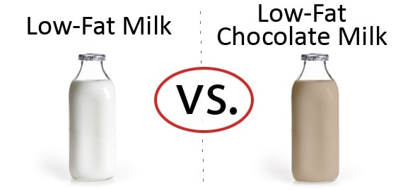 Nutrition Faceoff: Low-Fat Milk vs. Low-Fat Chocolate Milk