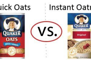 Nutrition Faceoff: Quaker Quick Oats vs. Instant