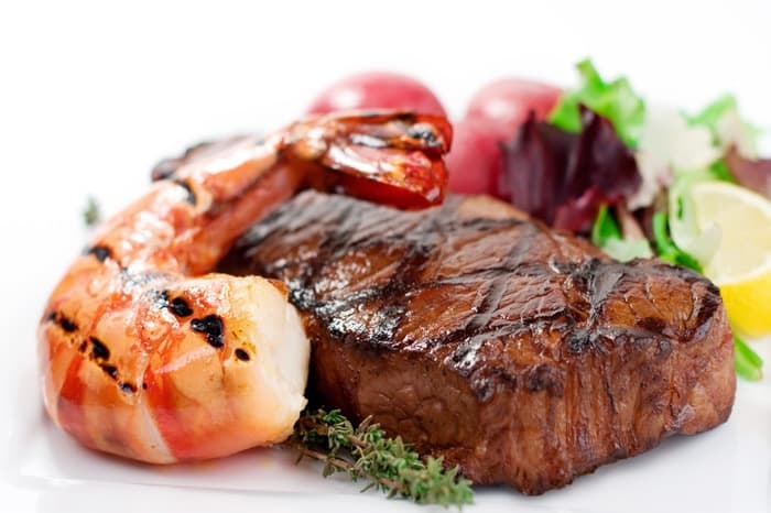 Steak & Prawns